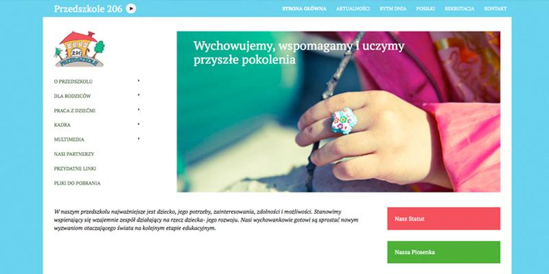 Strona internetowa dla przedszkola Warszawa