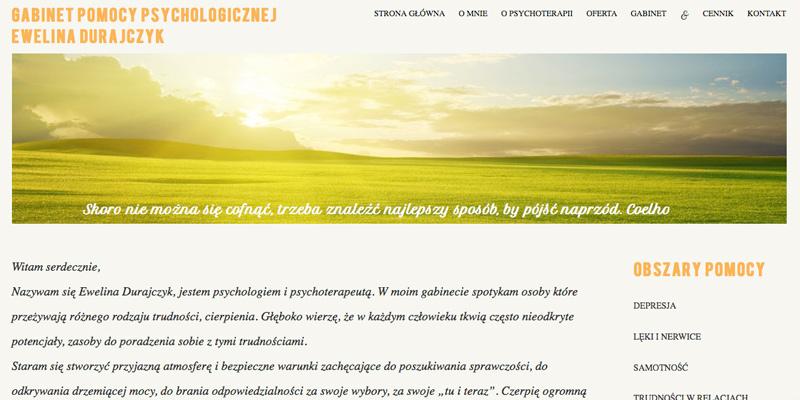 strona www dla psychologa