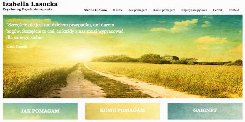 Strona internetowa dla psychologa