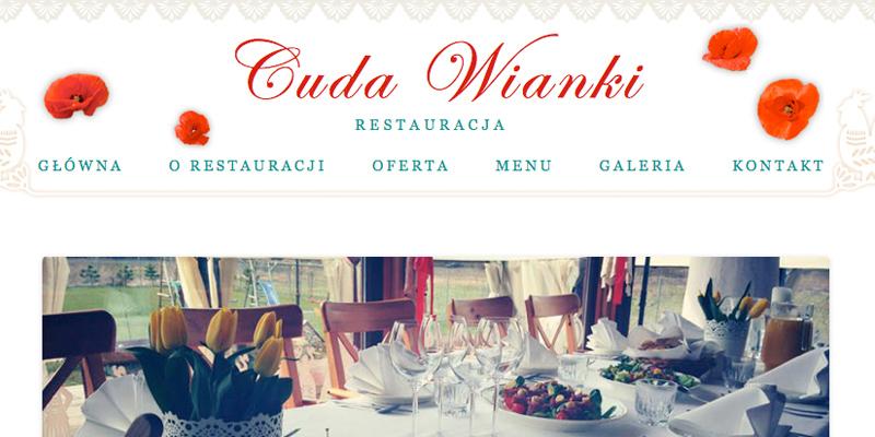 Strona internetowa dla restauracji