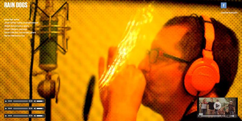 strona www dla zespołu muzycznego