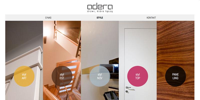 Strona internetowa dla producenta drzwi