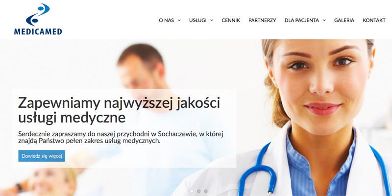Strona internetowa dla przychodni medycznej