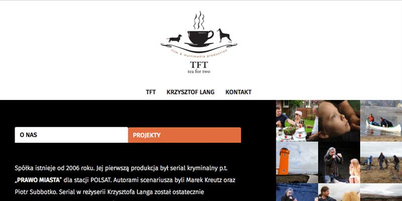 Strona internetowa dla reżysera