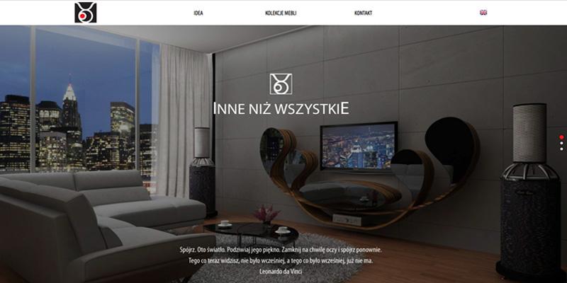 Strona internetowa dla projektanta wnętrz