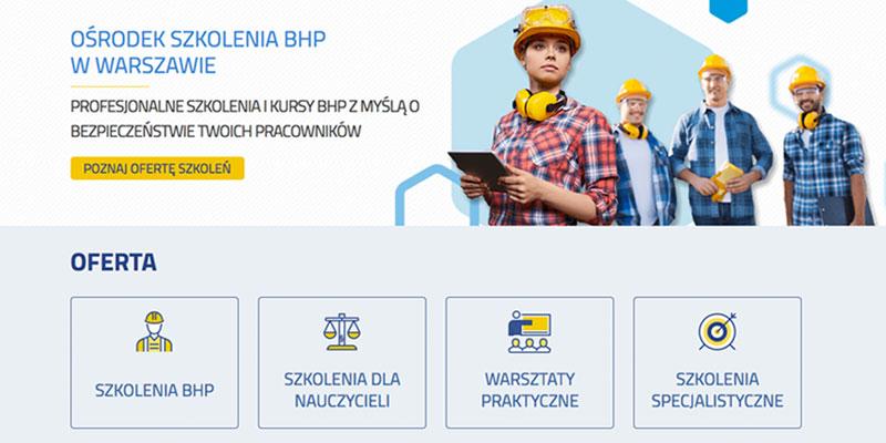 strona-internetowa dla firmy szkoleniowej