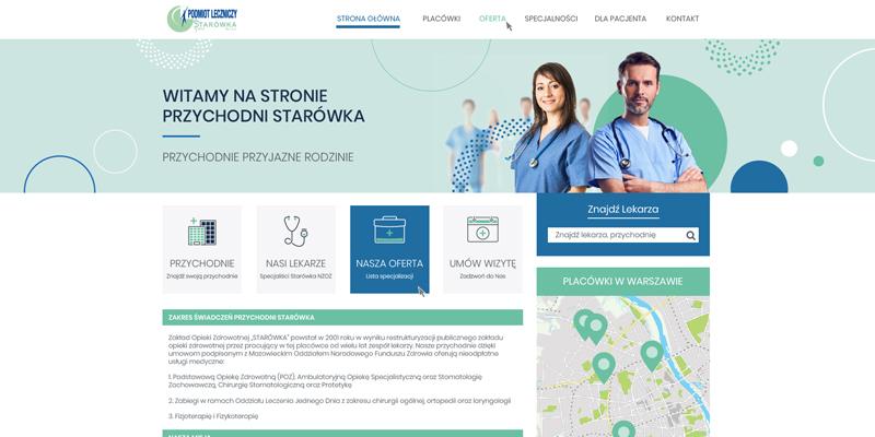 Strona internetowa dla centrum medycznego